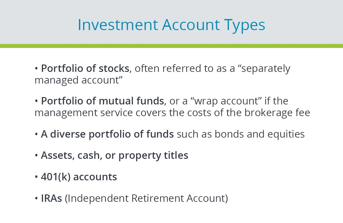 investment account types